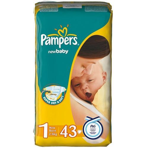 Pampers New Born (2-5 кг) 43 шт