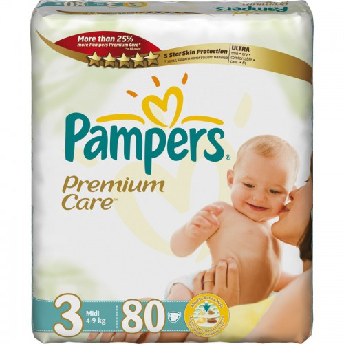 Pampers Premium Care 3 (4-9 кг) 80 шт