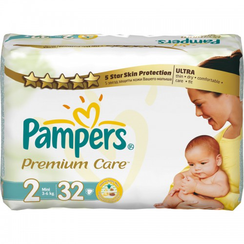 Pampers Premium Care 2 (3-6 кг) 32 шт