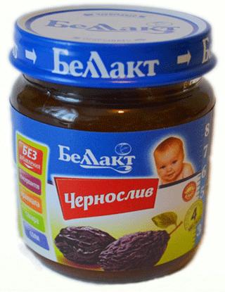 Пюре чернослив