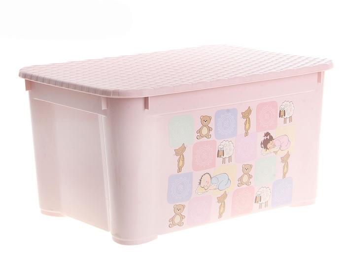 Ящик для игрушек, цвет розовый или голубой