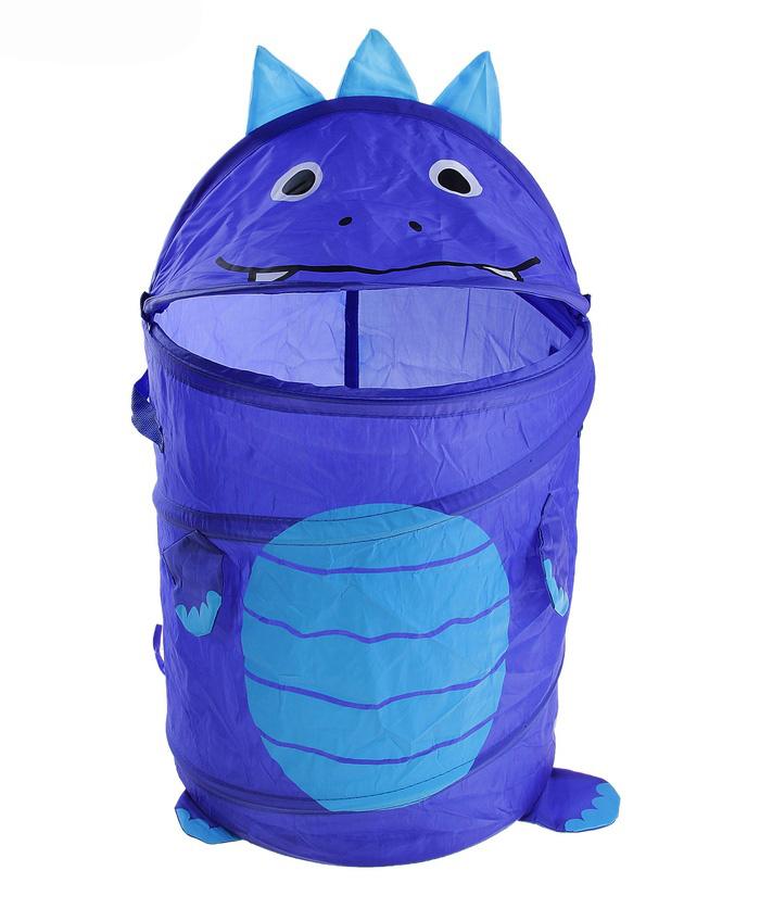 Корзина для игрушек «Весёлый дракончик», цвет синий