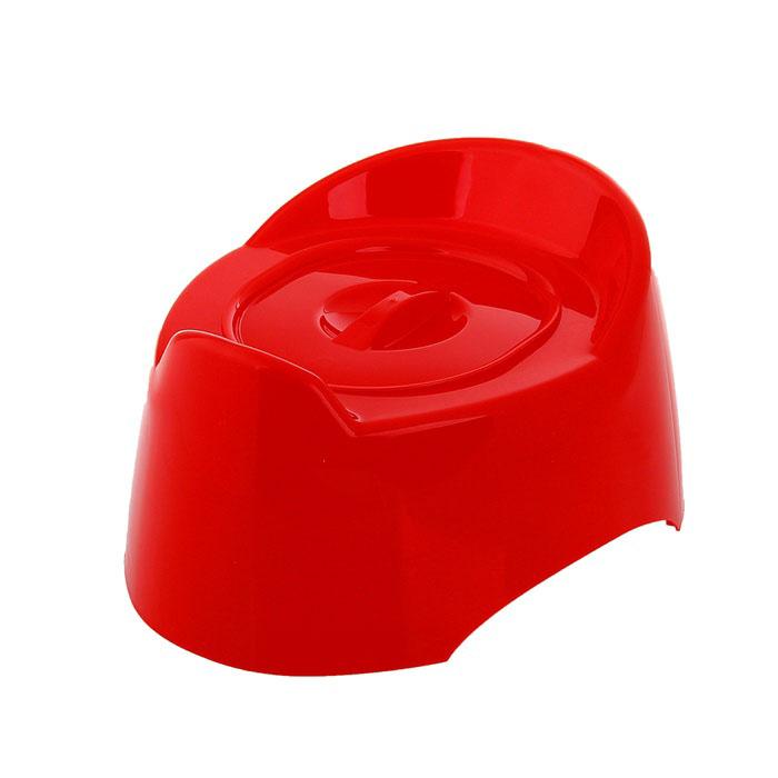 Горшок детский с крышкой «Малышок», цвет красный