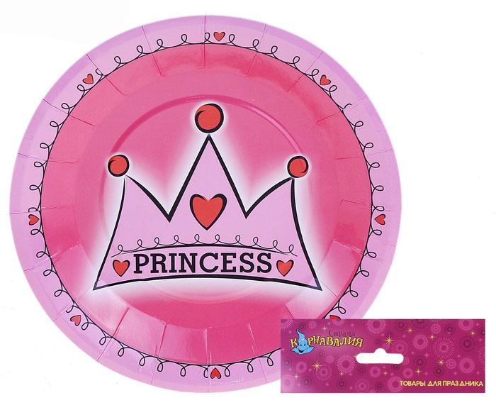 Тарелка «Принцесса», набор 6 шт, 18 см