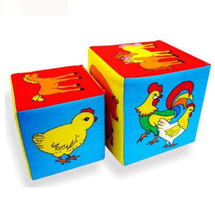 Набор развивающих мягких кубиков «Чей детеныш?»