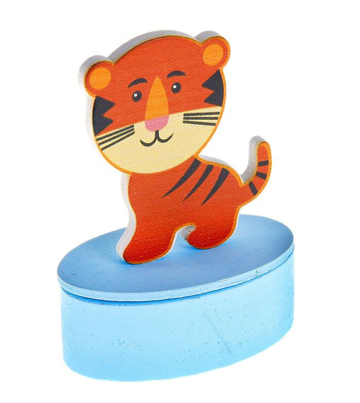 Детская шкатулка «Тигрёнок», с крышкой, на магните