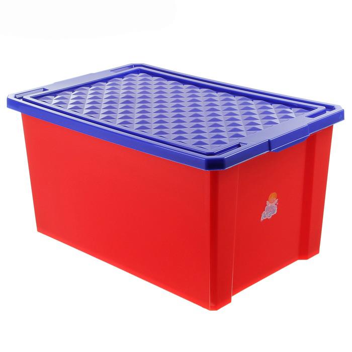 Ящик детский для игрушек 57 л «Лего» на колесах, большой