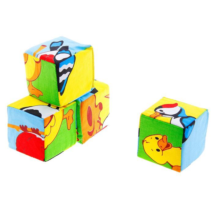 Набор мягких кубиков «Собери картинку. Птицы»