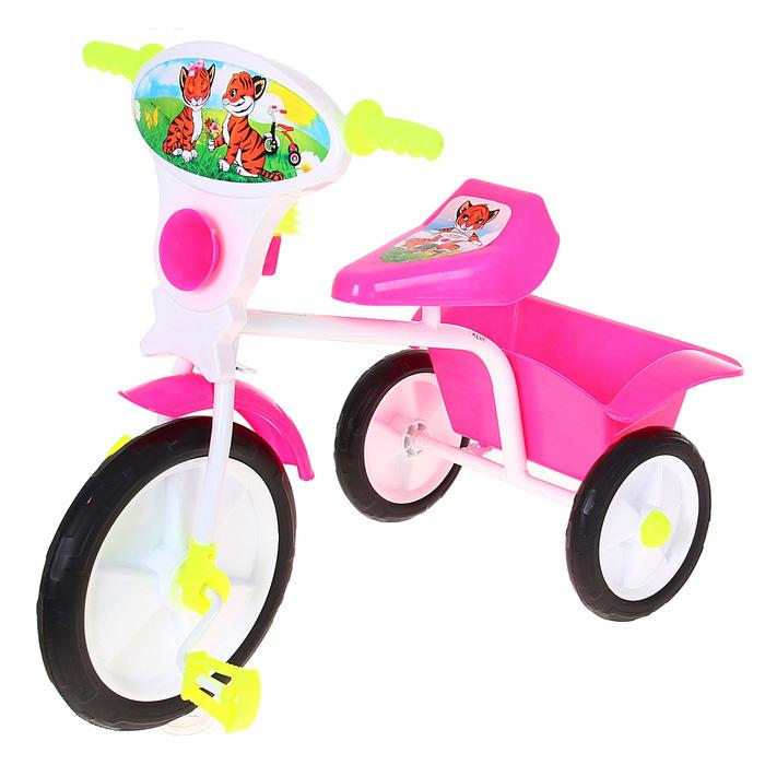 Велосипед трехколесный «Малыш», цвет: розовый 05П