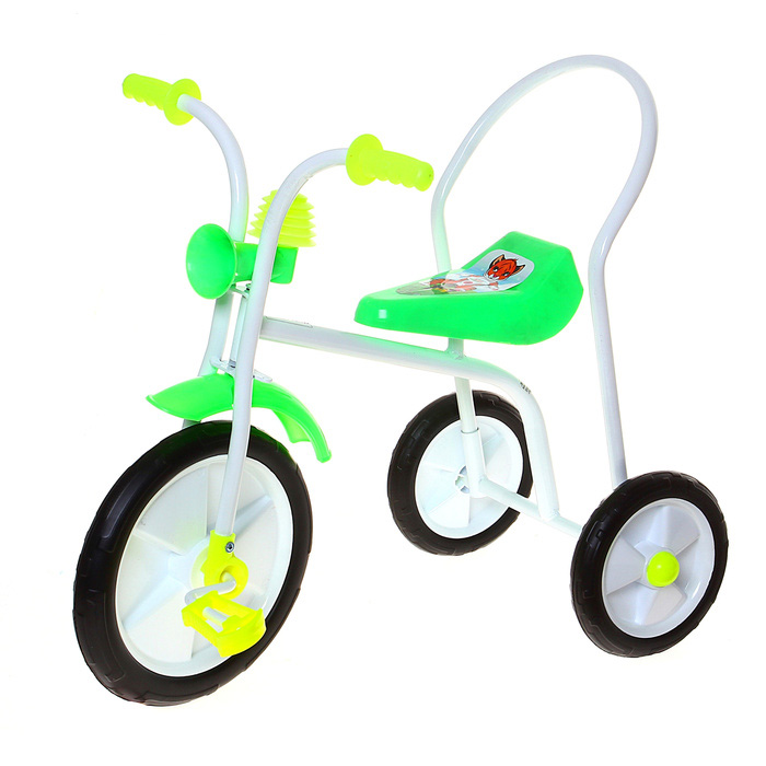 Велосипед трехколесный «Малыш», цвет: зеленый