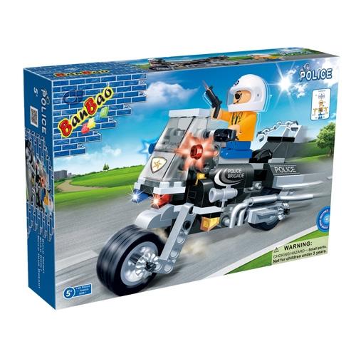 8351 Конструктор «Полицейский на мотоцикле» 140 деталей
