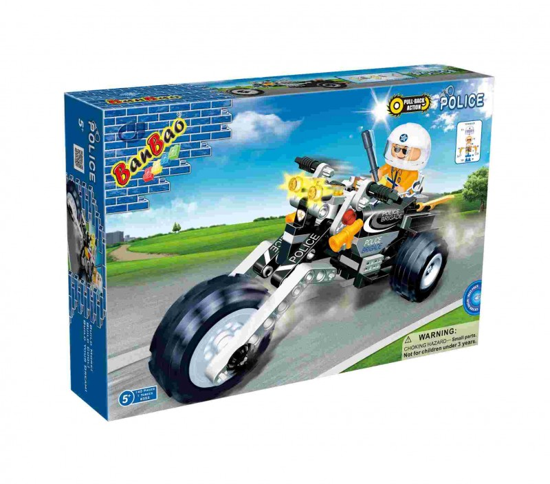 Конструктор «Полицейский мотоцикл» 8352 (BanBao)