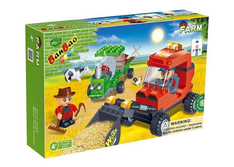 Конструктор BanBao Ферма 8577 Рабочие на ферме
