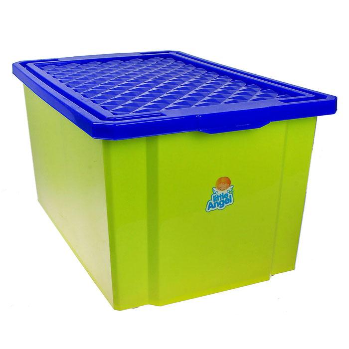 Ящик для игрушек «Лего» большой (57 л), с крышкой.