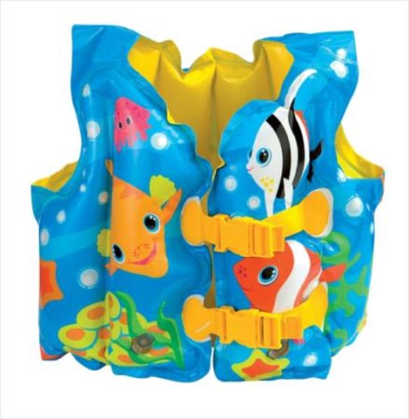 Жилет надувной для плаванья Рыбки Intex 59661