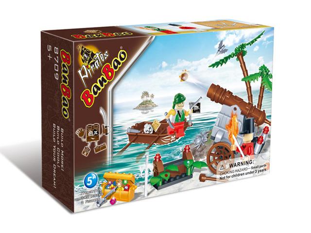 Пираты-захватчики, 140 деталей, BanBao