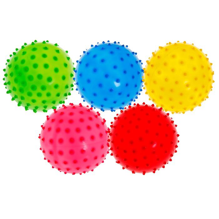 Мячик массажный цветной, матовый,  d=10 см