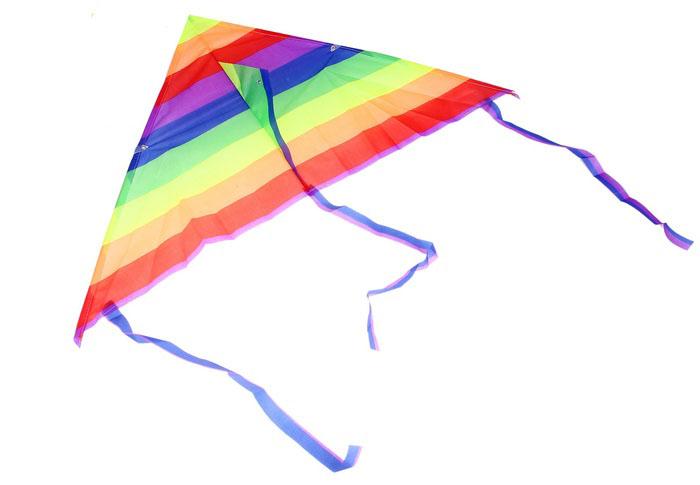 Воздушный змей «Цветные полоски» с леской