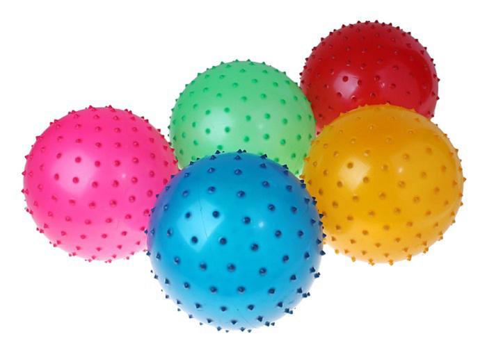 Мяч массажный цветной матовый, PVC, d=30 см