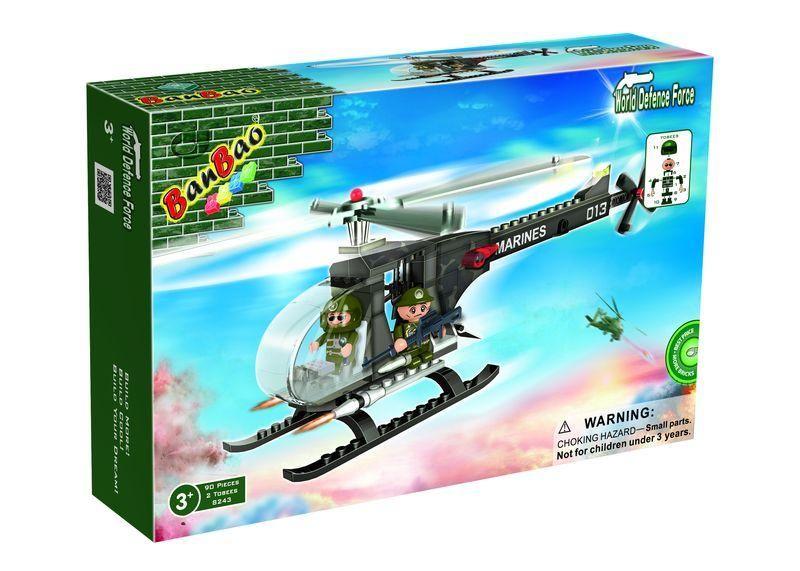 Конструктор BanBao «Военный вертолет» 8243