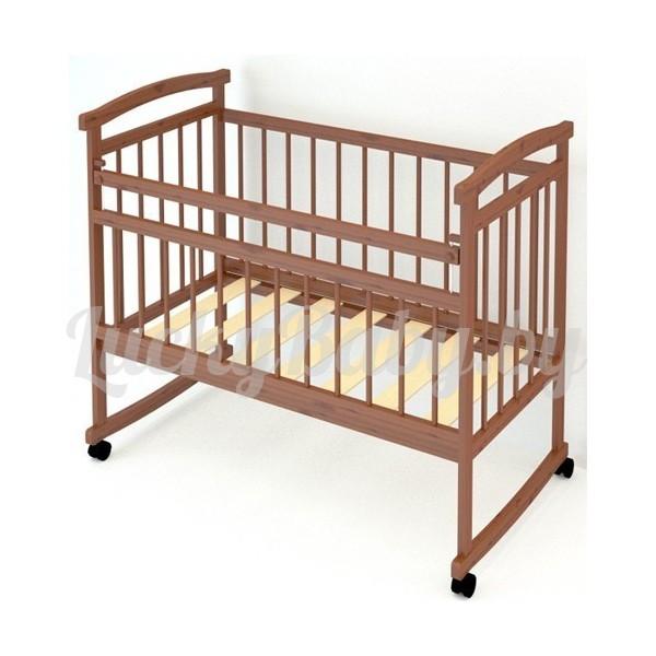 Детская кроватка «Аленка», цвет бук, орех.