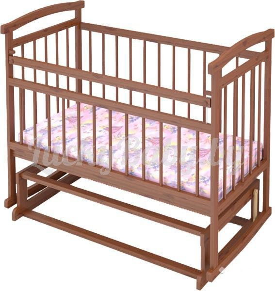 Детская кроватка Аленка-2 (цвет бук, орех)