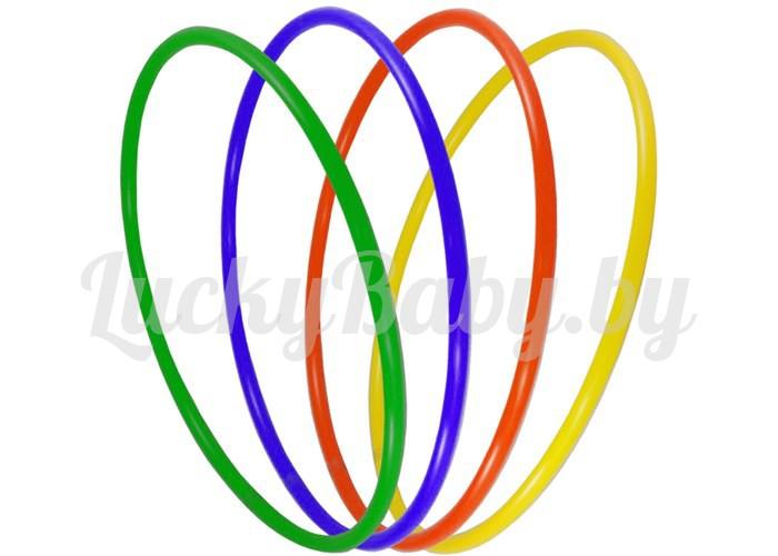Обруч детский гимнастический малый пластиковый цветной (диаметр 600 мм).