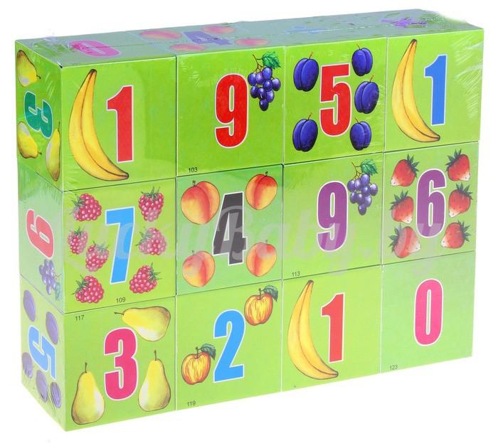 Кубики «Учимся считать», 12 штук