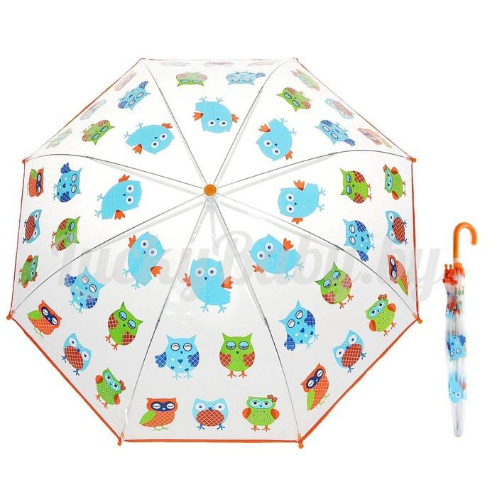 Зонт -полуавтомат «Совы»