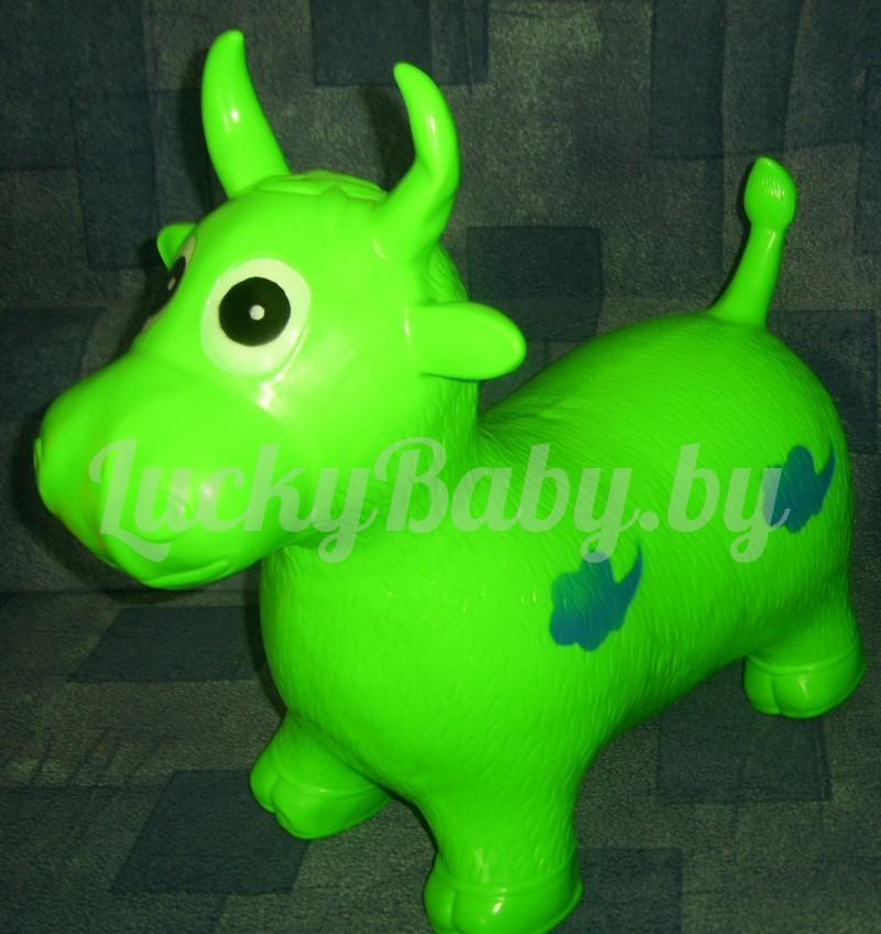 Надувная корова-прыгун